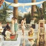 Donne nel cortile (1899), dipinto del principe Abdülmecid